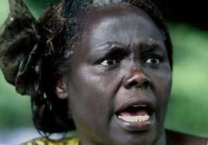 肯尼亚女环保主义者获得诺贝尔和平奖(图)