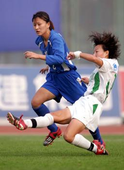 图文:上海女足勇夺女超冠军
