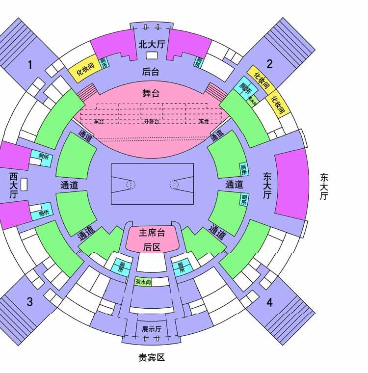 上海体育馆平面图-搜狐体育