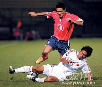 U19亚青赛决赛:0:2不敌韩国