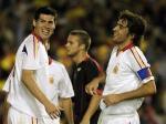 图文:西班牙主场2-0胜比利时 劳尔卢克喜笑颜开
