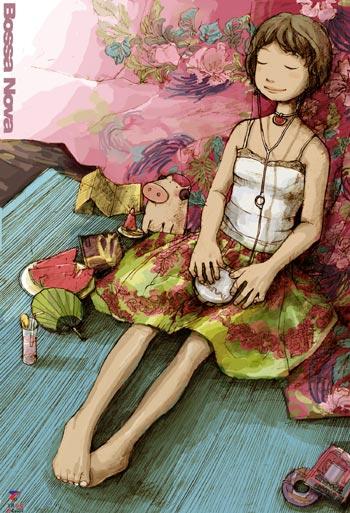 猪乐桃漫画作品《爱的魔法汤》