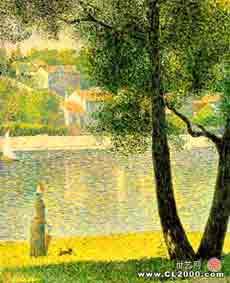 修拉:库布瓦的塞纳河