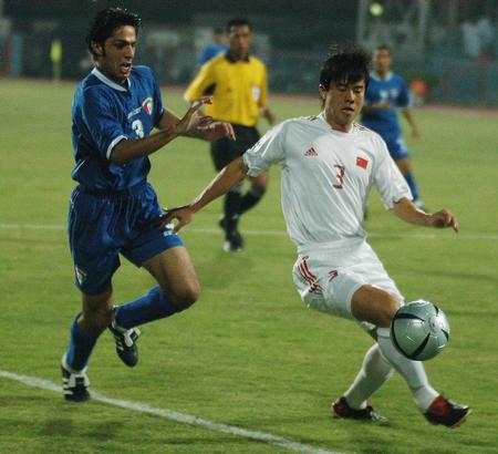 [体育](3)足球�D�D中国队负于科威特队