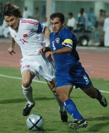 中国队负于科威特队