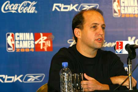 今天上午NBA中国赛北京组委会在君悦饭店举行新闻发布会.-NBA中