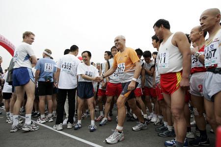 图文:北京国际马拉松赛况