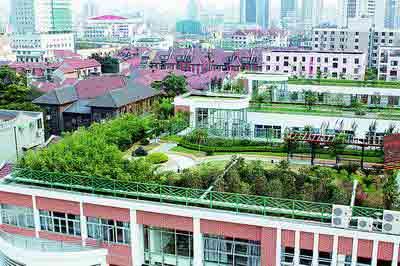 上海将立法推行屋顶绿化 新楼商务楼要强制推行