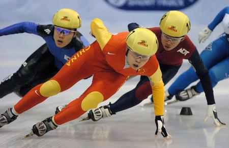 图文:短道速滑世界杯