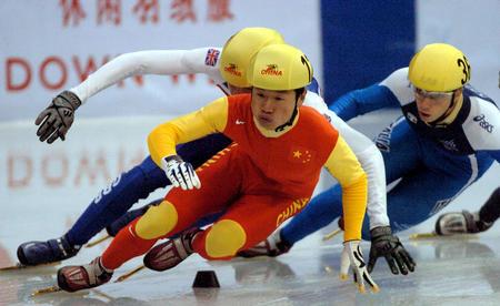 图文:短道速滑世界杯哈尔滨站