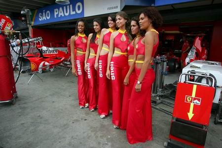 图文:巴西站赛前活动