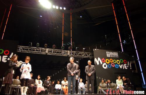 图文:东京电影节第二天-《可可西里》剧组