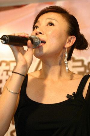 组图:叶蓓新专辑发布会搬到搜狐 开乐坛先河