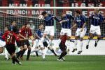 图文:AC米兰主场0-0平国米 皮尔洛主罚任意球