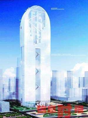 广州双子塔西塔12种设计方案征求市民意见(图)
