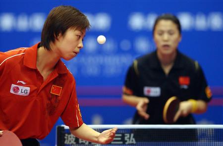 图文:乒乓球世界杯张怡宁夺冠