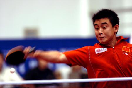 图文:世界杯乒乓球赛王皓夺得男单季军