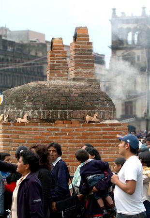 图文 墨西哥庆祝传统亡灵节 2