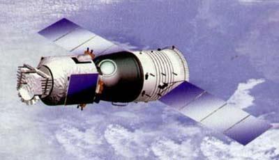 资料图:神舟五号的在轨状态-太空旅游 中国20年后实现