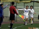 图文:中超第9轮补赛 天津1-0大连张烁再次破门