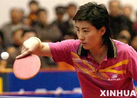 图文:中国乒超联赛 河北队选手负于北京队