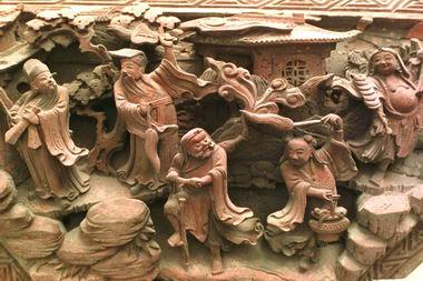 皖南发现一对明代木雕珍品(图)