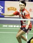 图文:林丹获中羽男单冠军 林丹比赛中回球