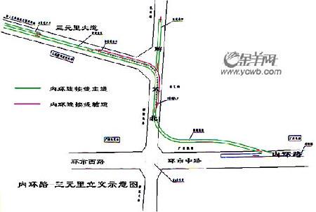 广园高架—机场高速的双向快捷连接线也正在加紧施工