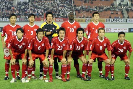 图文:中国7-0中国香港中国香港队首发阵容