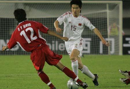 图文:中国7-0中国香港肇俊哲发狠
