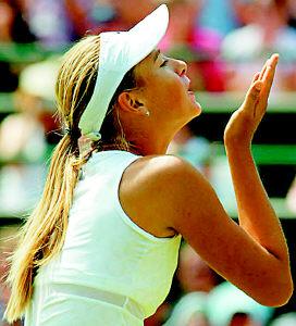 WTA年终排名莎拉波娃排第四(组图)