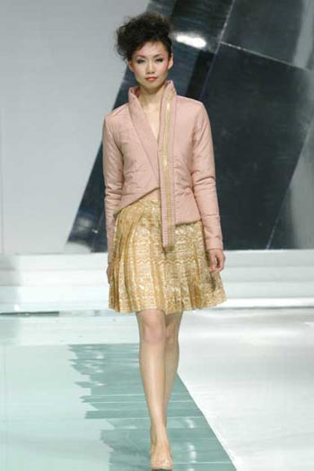 上海国际服装文化节 top10时装模特杰出贡献奖.