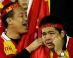图文:中国7-0中国香港 球迷无奈遭淘汰结局