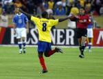图文:巴西客场0-1不敌厄瓜多尔 门德斯进球飞翔