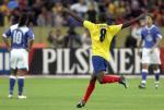 图文:巴西爆冷0-1不敌厄瓜多尔 门德司庆祝进球