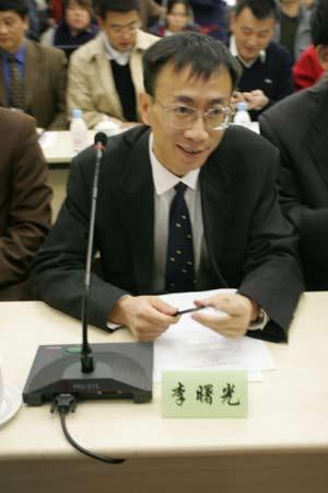 图文:中国足球体制改革理论研讨会-李曙光在会场