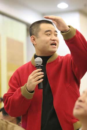 图文:中国足球体制改革理论研讨会-手舞足蹈