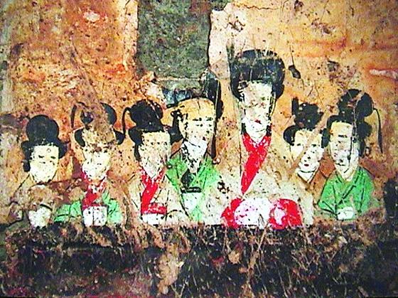 西汉精美壁画现身西安 图