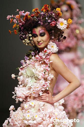 春天创意妆发型