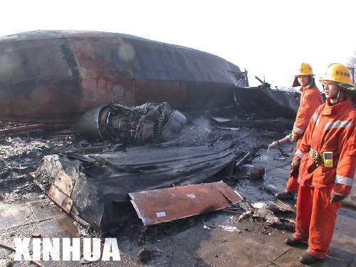 组图:东航一小型客机包头坠毁 机上53人地面1人罹难