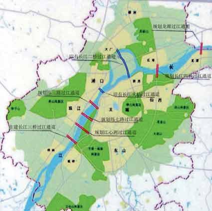 共规划了3条铁路过江通道