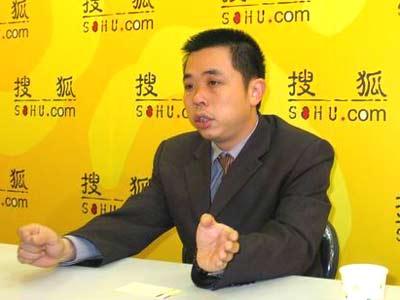 搜狐专访富迪公司的营销总经理蒋国仪高清图片