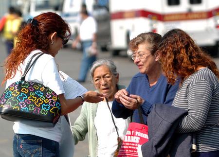 图文:墨西哥城纪念世界艾滋病日(1)