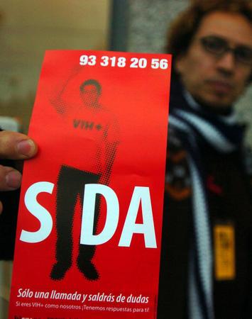 图文:巴塞罗那艾滋病宣传活动