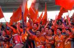 图文:中超22轮深圳2-2大连 球迷分享夺冠喜悦