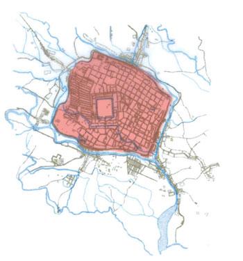 图片说明:1942年的成都市区