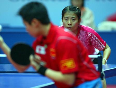 国际乒联总决赛 金景娥无缘半决赛