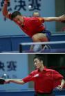 图文:乒联总决赛男单决赛 马琳王励勤顺利会师