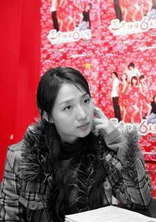 晨报专访《雪狼湖》女主角候选人阿朵(组图)
