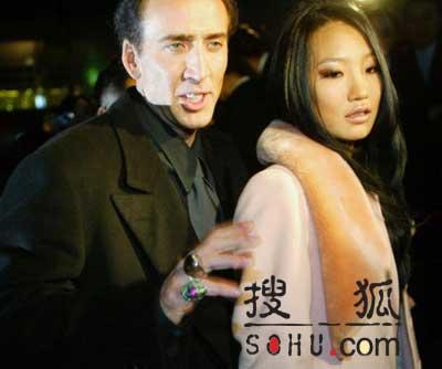 凯奇牵手韩国新妻赴台湾宣传《国家宝藏》(图)